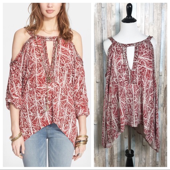 a137a23ad88055 Free People Tops - Free People S Good Morning Cold Shoulder Top Tunic